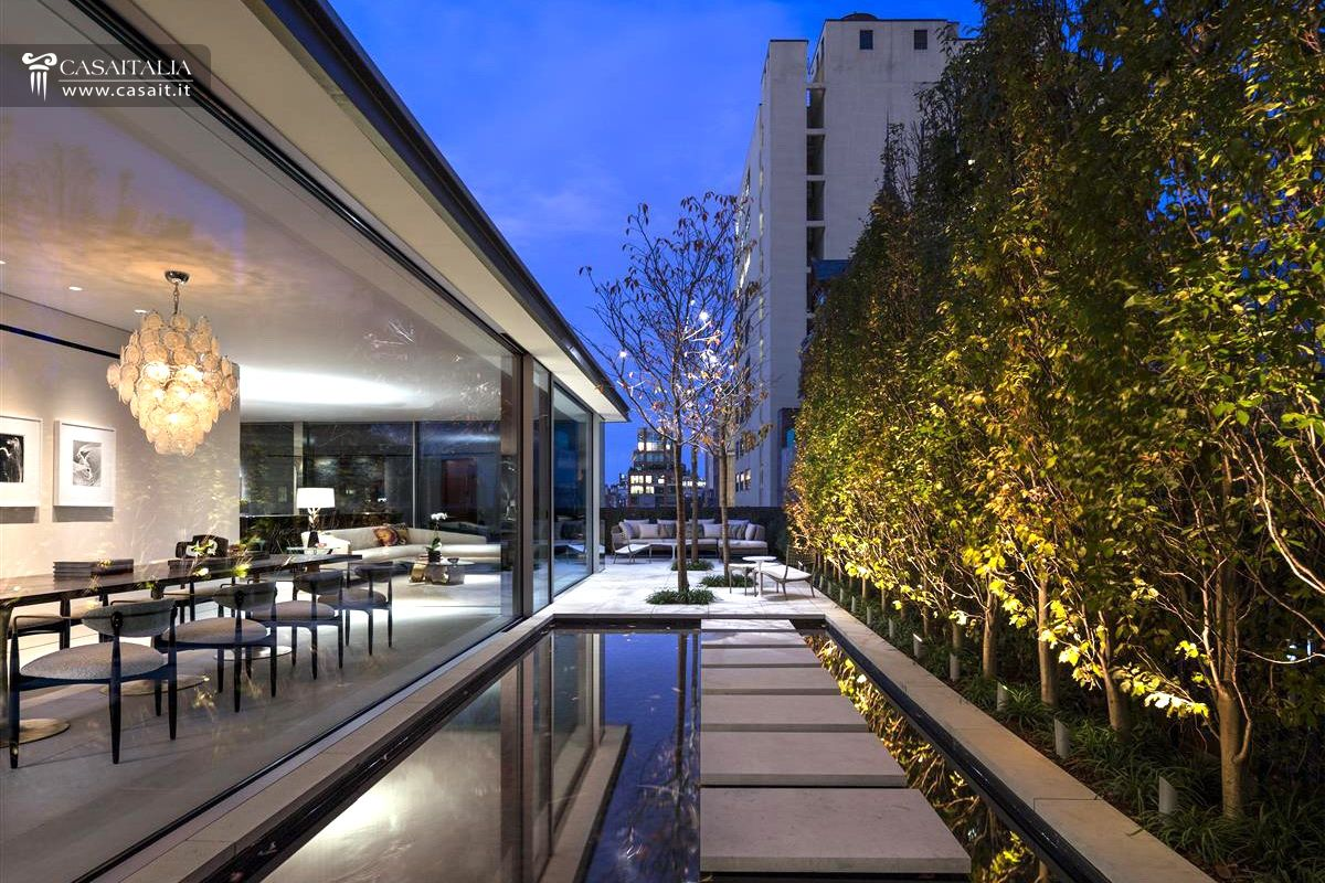 Luxury penthouse with terrace and swimming pool for sale for Garden city pool new york
