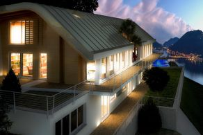 Newly built villa for sale on Lake Lugano